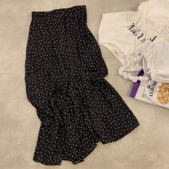SELECT dot flare skirt