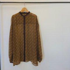 SELECT bandcollar leaf shirt