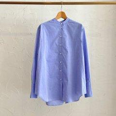 SELECT chambray band collar shirt