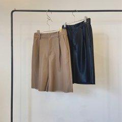 SELECT eco leather half pants