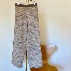 SELECT jacquard knit pants
