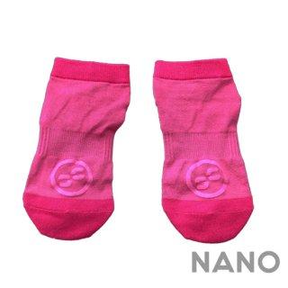 【FIBRA】フィブラ ナノフロントRUN用靴下 ピンク×ピンク