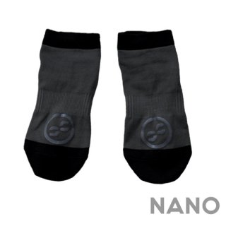 【FIBRA】フィブラ ナノフロントRUN用靴下 ブラック×ブラック