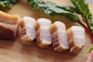 【富士子ベーコン】豚肉と塩のみのベーコン