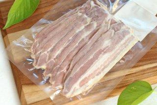 【富士子ベーコン】豚肉と塩のみのベーコン・スライス
