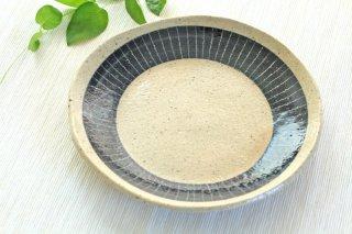 【幻窯】【パン皿・とり皿に】青&ベージュ丸皿