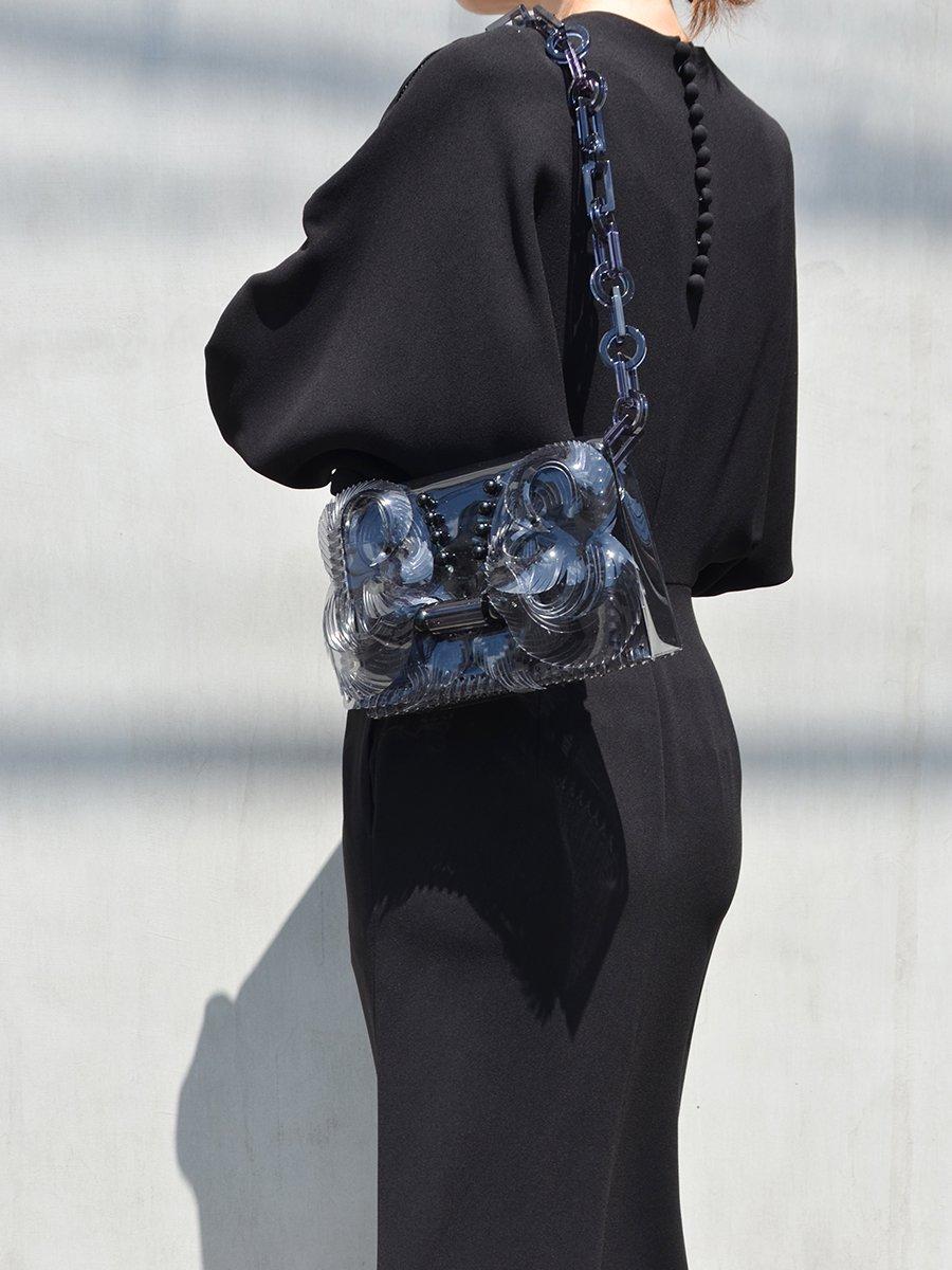 Mame Vinyl Chloride Long Chain MINI Bag (black)