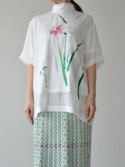 MameKurogouchi Flower Embroidery Jersey T-shirt