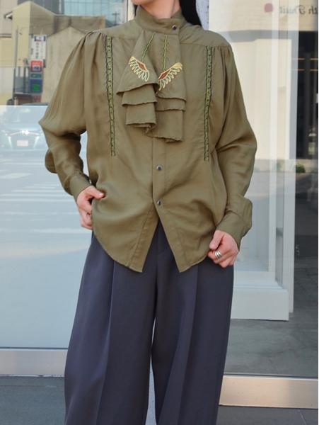 TOGA PULLA Silk embroidery blouse