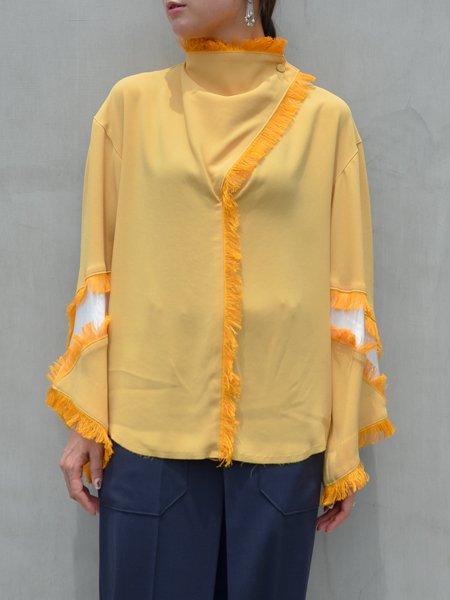 TOGA PULLA Georgette fringe blouse