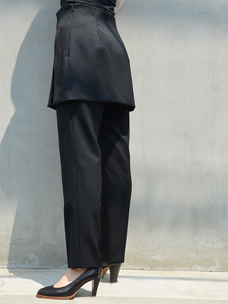 MameKurogouchi Wool Pants With Wrapped Skirt