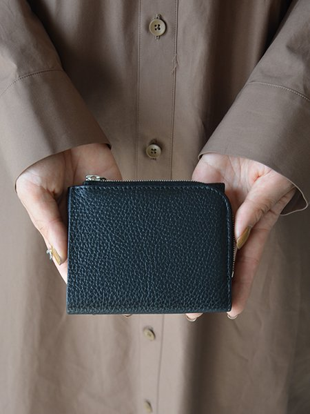 Aeta PEBBLE GRAIN WALLET typeA (black)