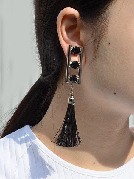 TOGA PULLA Fringe earrings