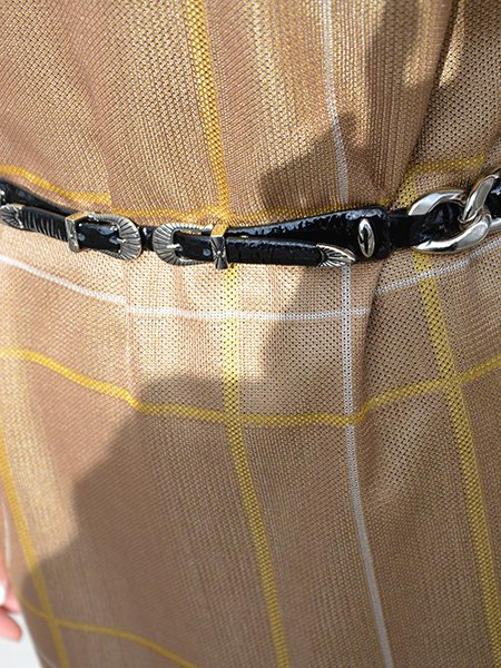 TOGA PULLA Double buckle chain belt