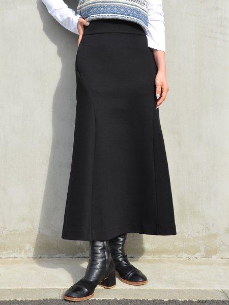 MameKurogouchi Double Face Jersey Flared Skirt
