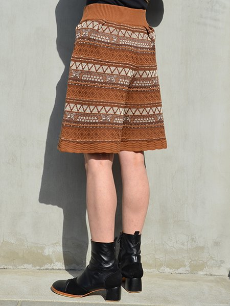 MameKurogouchi Multi-Colour Jacquard Knit Shorts