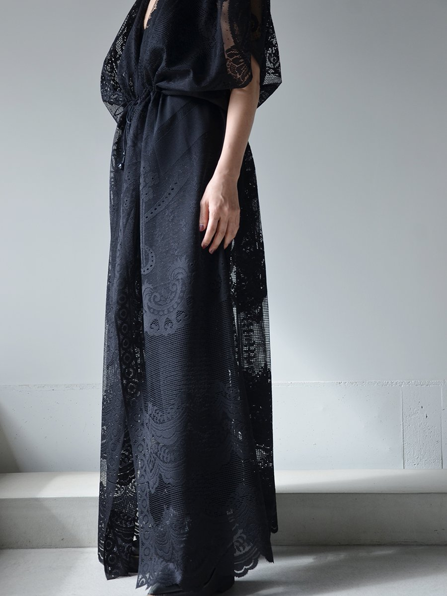 MameKurogouchi Curtain Lace Drawstring Waist Coat