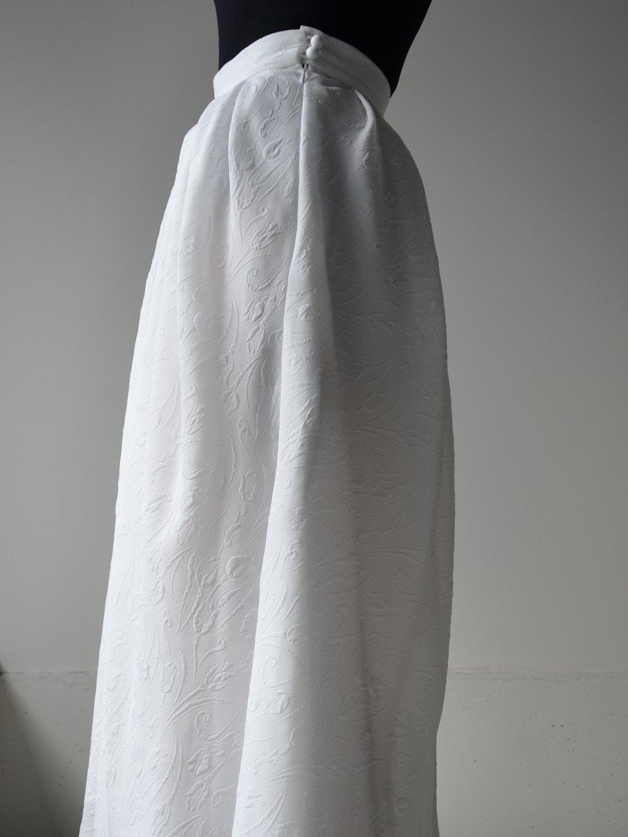 MameKurogouchi Tulip Motif Volume Pleated Skirt