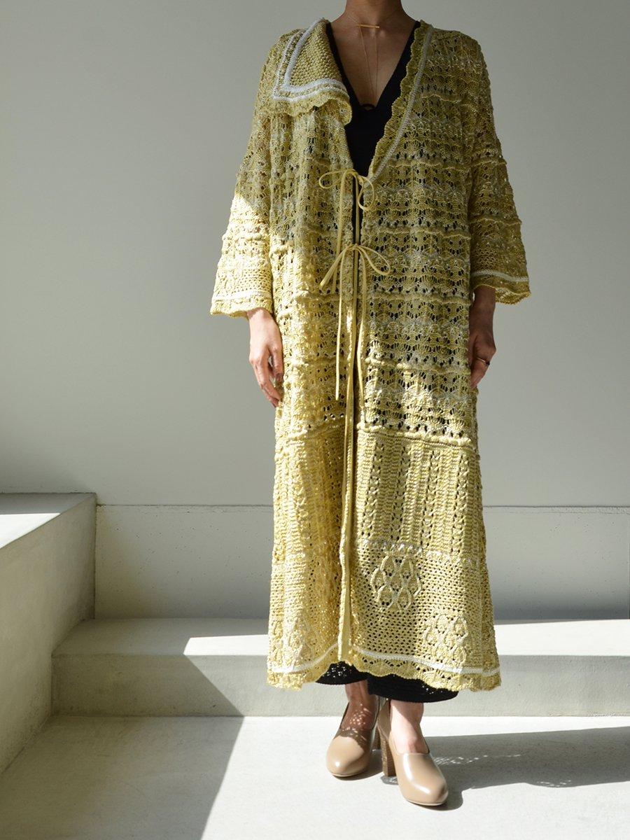 MameKurogouchi Floral Watermark Wrap-Front Knitted Dress