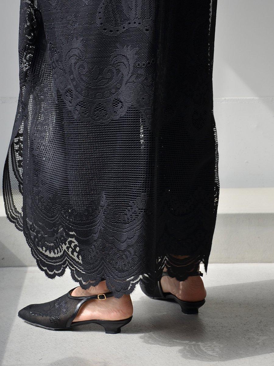 MameKurogouchi Floral Embroidered Sling Back Heels