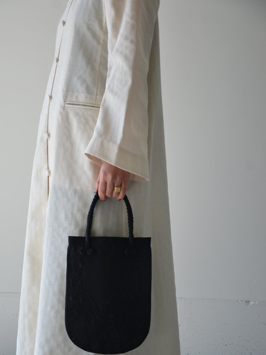 Mame Kurogouchi Nep Stripe Long Coat