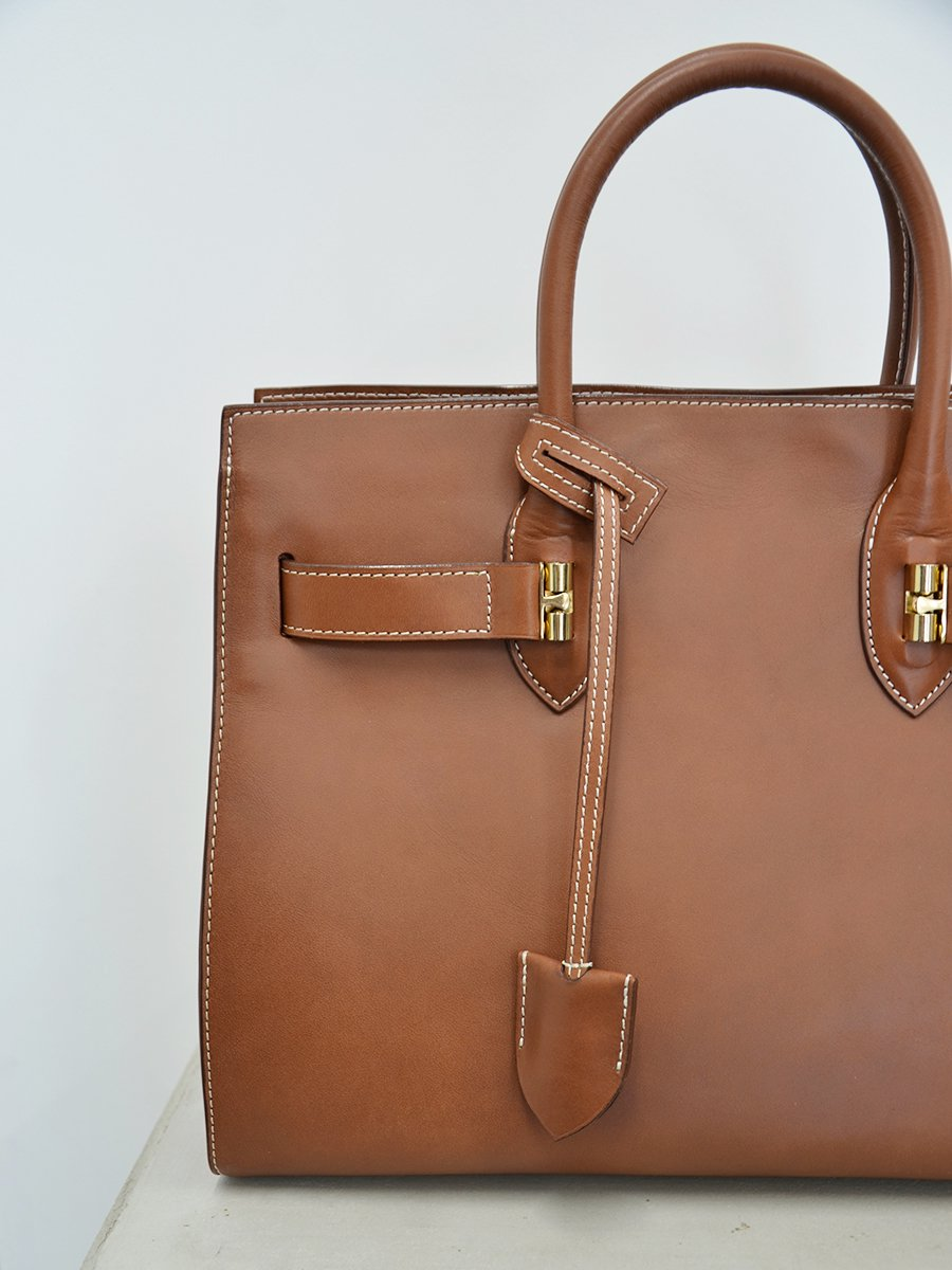 ED ROBERT JUDSON SMOOTHED COW LETHER HAND BAG(LAYTON)