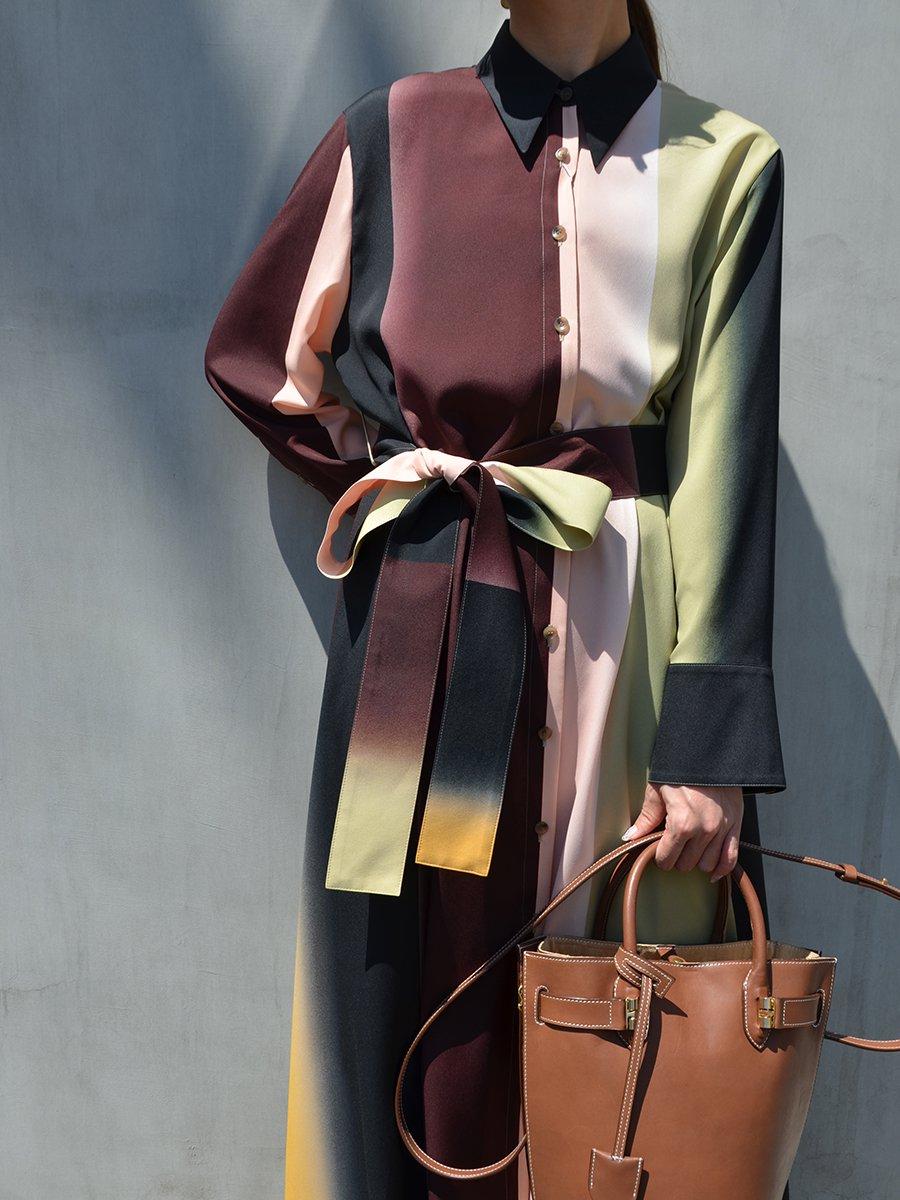 AKIRANAKA Magali shirt dress