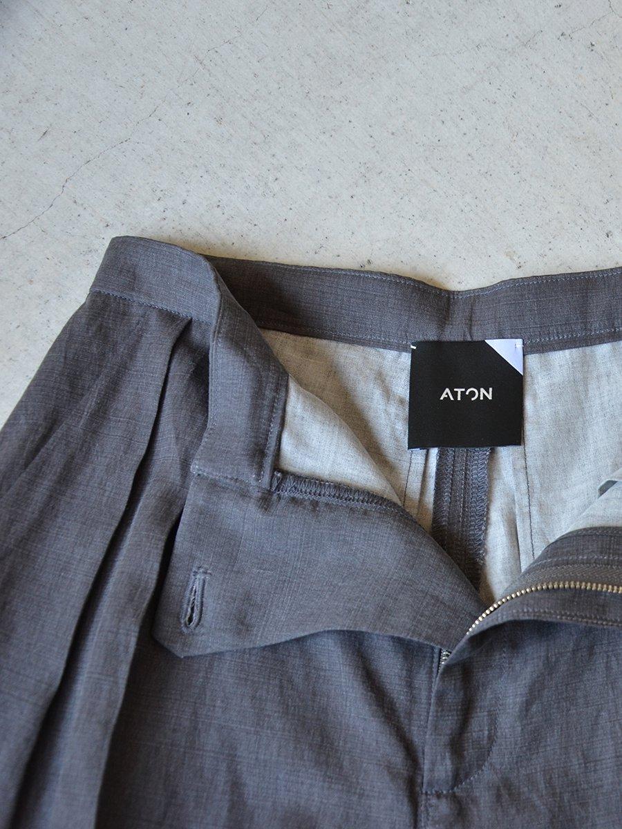 Aton PIGMENT SILK LINEN SHORT PANTS