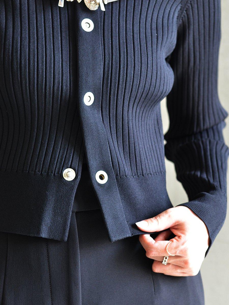 TOGA PULLA Rib knit cardigan