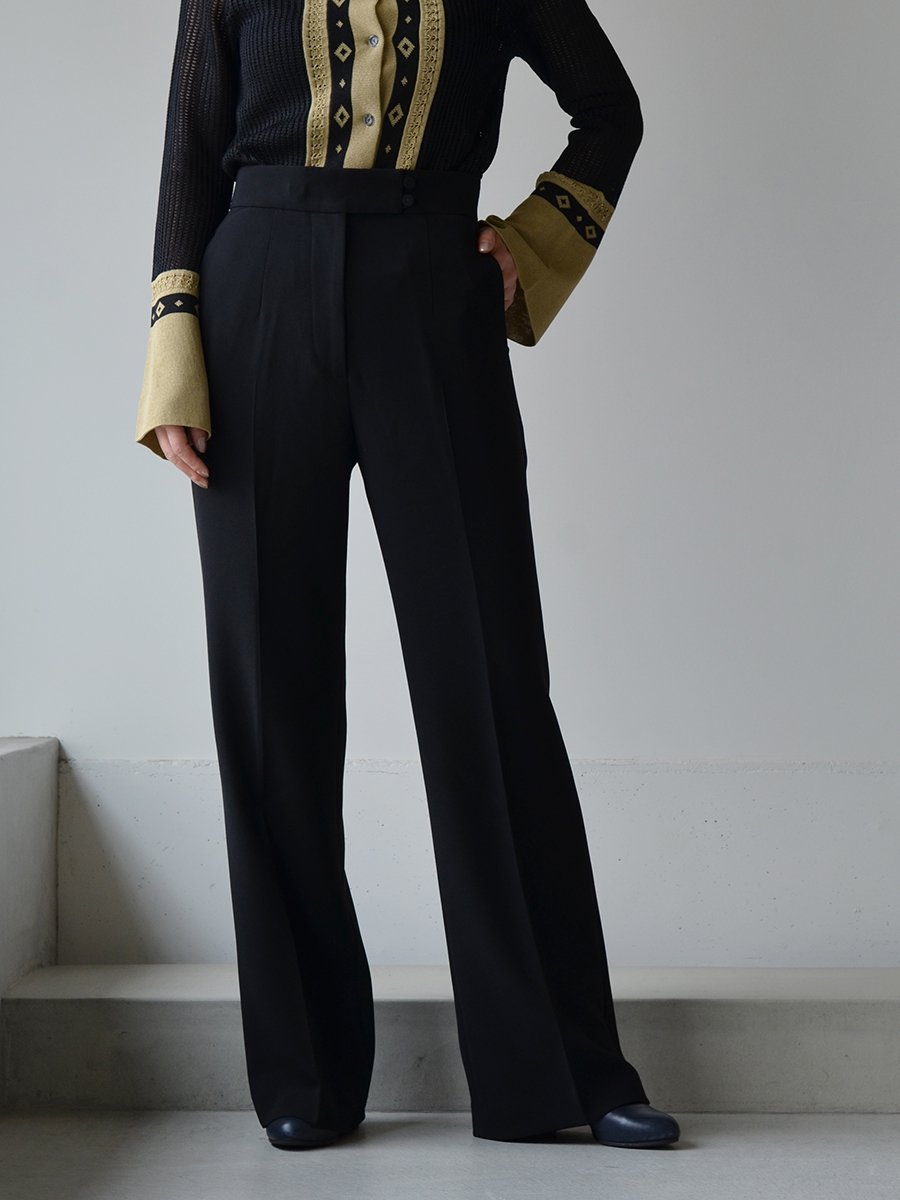 MameKurogouchi High Waisted Center Creased Suit Trousers
