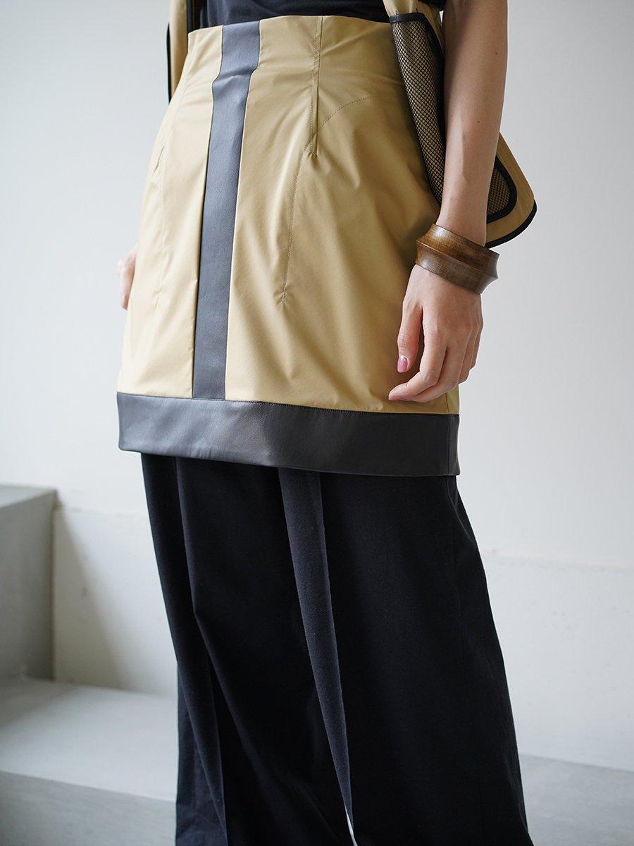 MameKurogouchi Water Repellent Nylon Mini Skirt