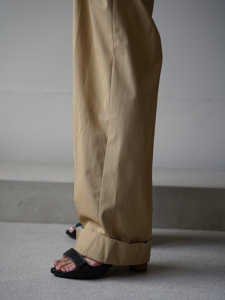MameKurogouchi High Waisted Chino Wide Trousers