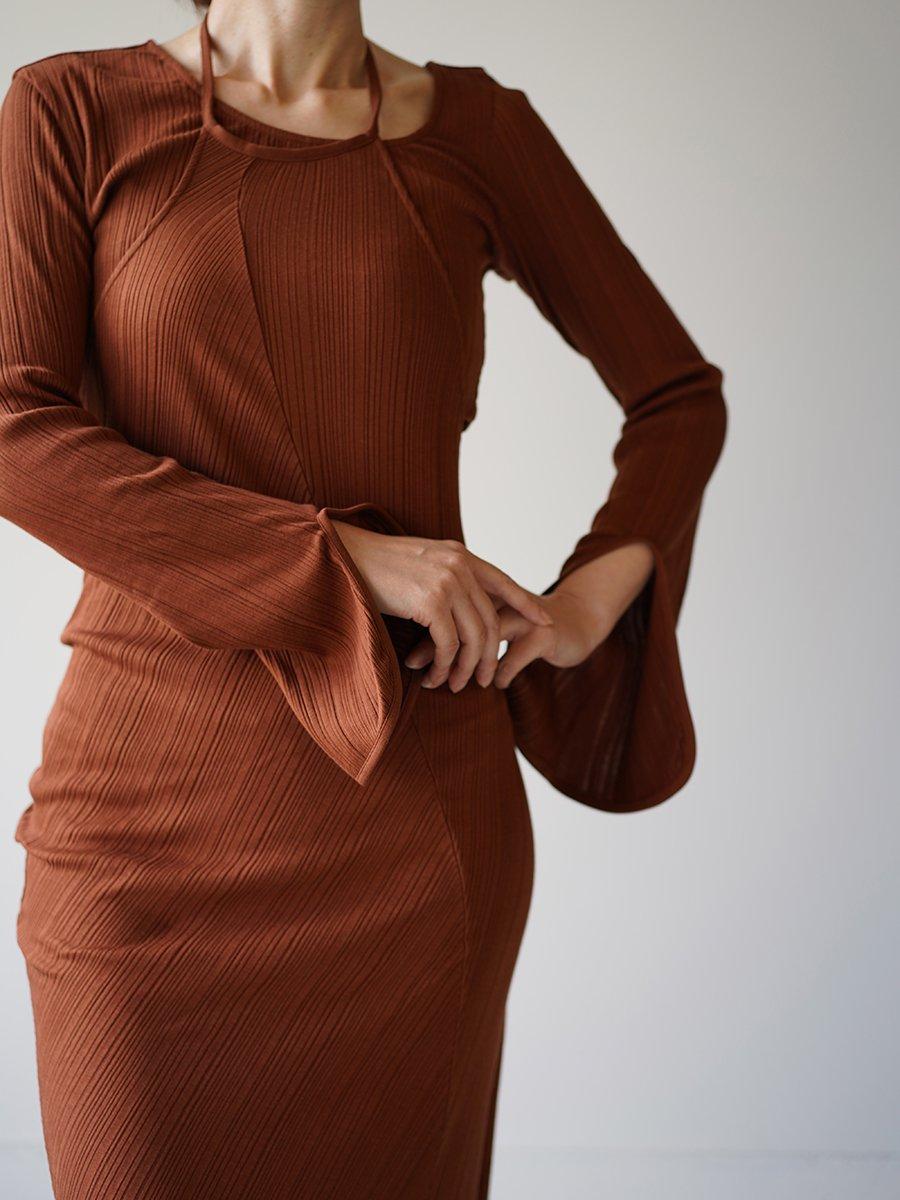 MameKurogouchi  Ribbed Jersey Multi-Way Dress