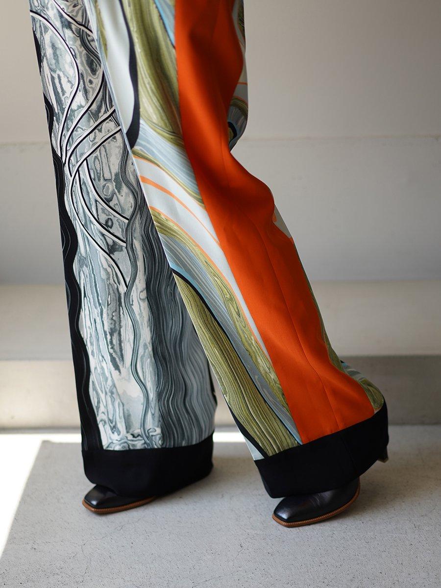 MameKurogouchi Marble Print Center Creased Trousers