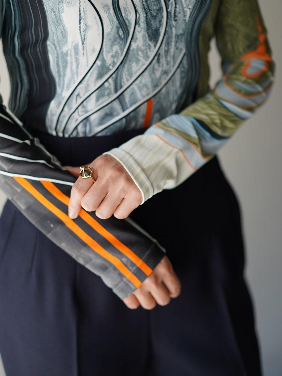 MameKurogouchi Marble Print Jersey Top