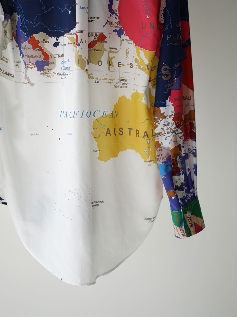 BED j.w. FORD Wardrobe shirt Map pattern