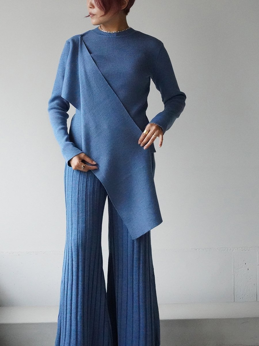AKIRA NAKA Sabien wrap neck knit Pullover