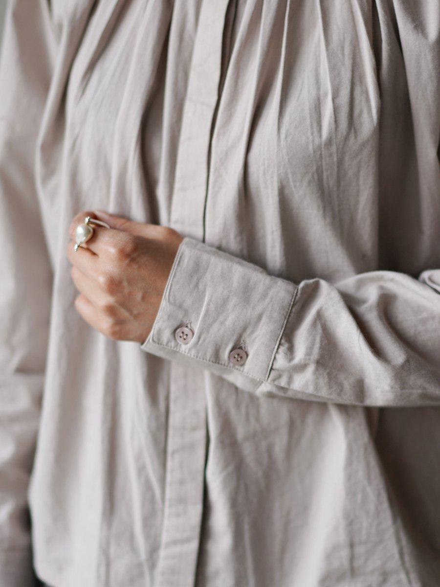 SEEALL PLEATED CLASSIC SHIRTS beige