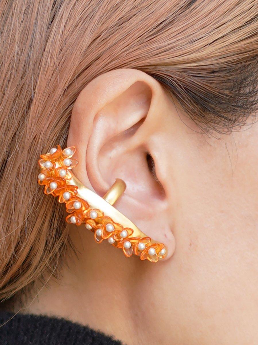 MameKurogouchi Osmanthus Motif Ear Cuff