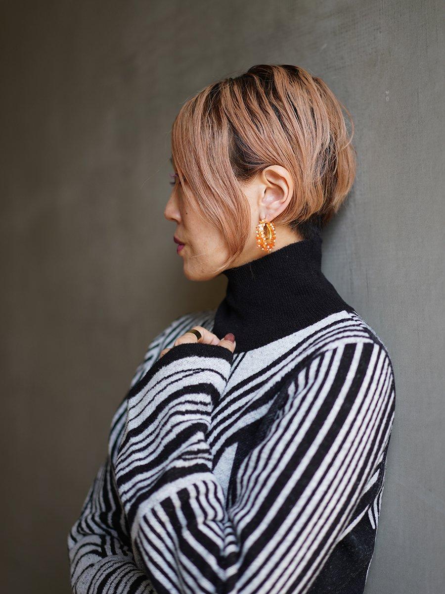 MameKurogouchi Osmanthus Motif Earrings