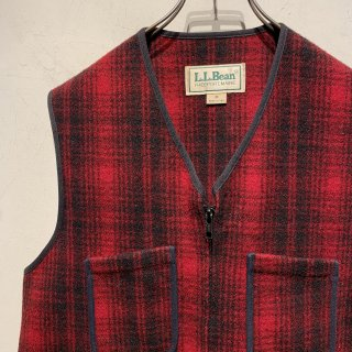 "1990's ""L.L.Bean"" Wool Vest Made in USA"