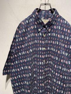 """1990's """"NATURAL ISUUE"""" S/S Pattern Shirt"""