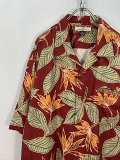 """""""TOMMY BAHAMA"""" S/S Hawaiian Shirt [Leaves]"""