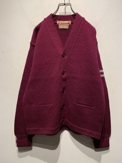 """1950's """"LASLEY KNITTING"""" Lettered Cardigan [GOOD CONDITION]"""