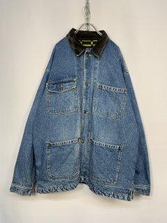 "1990's ""BUGLE BOY"" Denim Coverall Fleece Lining"