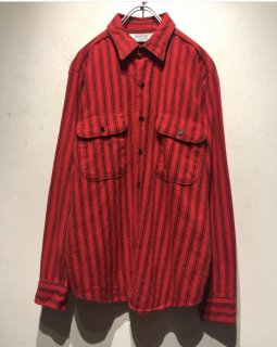 "1970's-1980's ""FIVE BROTHER"" L/S Stripe Flannel Shirt 「Made in U.S.A.」"