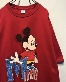 "1990' ""Mickey Mouse"" Print Tee 「Made in U.S.A.」"