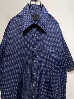 """1970's VINTAGE """"VAN HEUSEN"""" S/S Dot Shirt"""