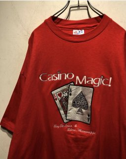 "1990's ""Casino Magic"" Embroidery Tee Made in USA"