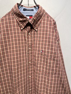 """TOMMY HILFIGER"" L/S Check Shirt  「RED×YELLOW」"